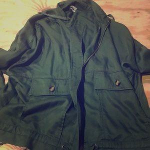 Navy green lightweight jacket